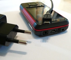 The Micro-USB interface is found on chargers for feature phones and the lower end smartphones.