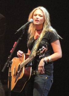 Lambert on stage, in Pontiac, Michigan, March 31, 2007