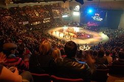 Over 3,700 fans attend the opening bout of the 2007 Minnesota RollerGirls season