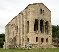 The pre-Romanesque architecture of Santa María del Naranco in Oviedo.