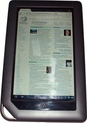 Barnes & Noble Nook running Android