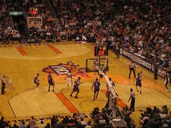 A home game against the Sacramento Kings in the 2006–07 season