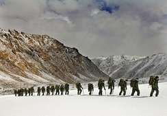 Royal Marines training in the Himalayas, 2007