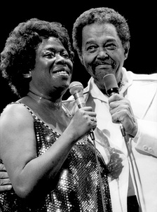 Sarah Vaughan and Billy Eckstine at Monterey Jazz Festival in 1981