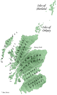 Relief map of Scotland