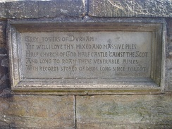 Sir Walter Scott's words on Durham are inscribed into Prebends Bridge