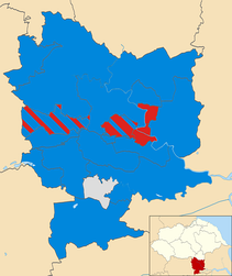 Map showing the makeup of Selby District Council as of 10 November 2017.