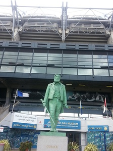 Statue of Michael Cusack outside the Croke Park GAA Museum