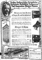 Advertisement for the Steger Piano Company in 1916 describing the company's connection to the creation of the village