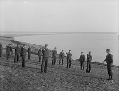 Members of the Royal Naval Reserve training at Tramore, County Waterford, c. 1905