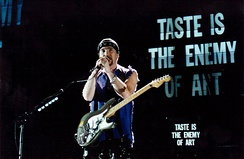 The Edge playing a Fender Stratocaster on the Zoo TV Tour in 1993