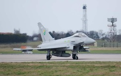 The Eurofighter Typhoon is based at RAF Coningsby; it will eventually carry the active electronically scanned array (AESA) radar, which enables the radar to distinguish between targets and background noise, which earlier radars could not