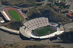 Aerial view of Sun Bowl Stadium and Kidd Field