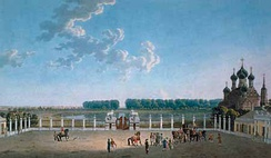 View south from the windows of the Ostankino Palace in the early 18th century