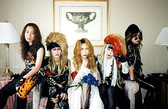 Japanese fans doing X Japan cosplay