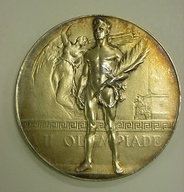 One of the 154 (identical) gold medals awarded at the Games of the VII Olympiad