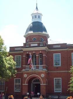 The Anne Arundel County Courthouse facing Church Circle in Annapolis