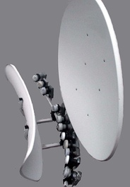 90cm multiple-LNA toroidal satellite dish