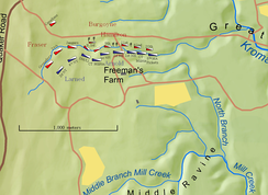 Array of Units on the Freeman's Farm Battlefield