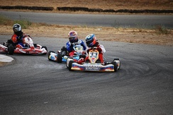 A sprint kart race in Atwater California hosted by the International Karting Federation