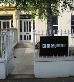 Entrance to BBC Radio Jersey in Parade Road, Saint Helier
