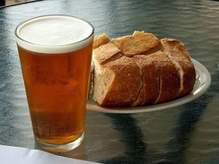 Beer and bread, two major uses of fermentation in food