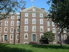 Brown University's University Hall located in Providence, Rhode Island.