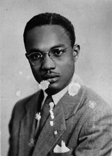 Portrait of Amilcar Cabral in 1948, aged 23.