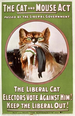 Cat and Mouse Act WSPU poster (1914)