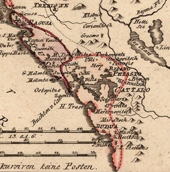 Map of the Bay of Kotor (1789).