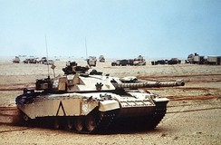 British Army Challenger 1 main battle tank during Operation Desert Storm
