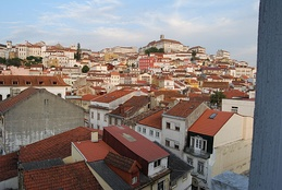 View of Coimbra, one of the two oldest municipalities in Portugal.