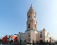 Basilica and Convent of Santo Domingo in Lima, Peru, completed in 1766