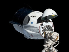SpaceX's Crew Dragon spacecraft, designed to shuttle crew to and from the International Space Station as part of the Commercial Crew Program