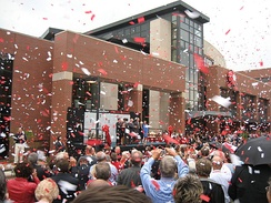 David Letterman Communication and Media Building dedication ceremony in 2007.