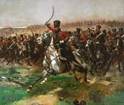 "French 4th Hussar at the Battle of Friedland, 14 June 1807. ""Vive l'Empereur!"" by Édouard Detaille, 1891"