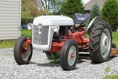 A Ford N series tractor