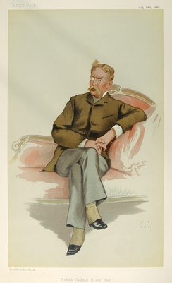 """Roman Catholic Home-Rule"". Caricature by T published in Vanity Fair in 1880."