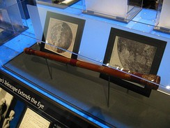 A replica of the earliest surviving telescope attributed to Galileo Galilei, on display at the Griffith Observatory.