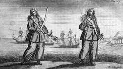 Anne Bonny and Mary Read, convicted of piracy on November 28, 1720