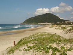 Santinho Beach, at Santa Catarina island, Florianópolis. The beaches in Santa Catarina's littoral are one of the main destination for Argentine tourists.