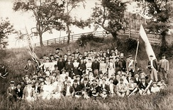 Imatra Society, consisting of Finnish immigrants, celebrating its summer festival in Fort Hamilton, Brooklyn in 1894.