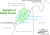 Map of the Republic of Indian Stream