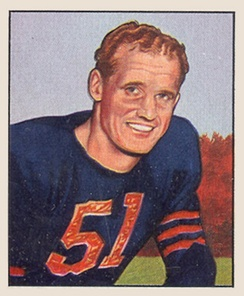 Ken Kavanaugh led the league in touchdown receptions twice while playing for the Chicago Bears.