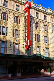 The Majestic Theatre is the sole survivor of Theater Row.