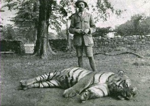 Джим Корбетт с убитой Чампаватской тигрицей