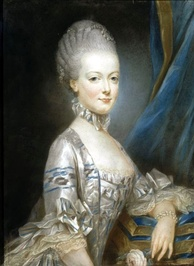 Marie Antoinette at the age of thirteen; this miniature portrait was sent to the Dauphin to show him what his future bride looked like (by Joseph Ducreux, 1769)