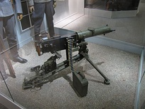 Maxim's machine gun on display at the Military Museum of Finland