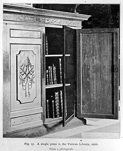 Bookcase in the Vatican Library
