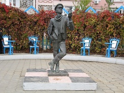 Statue of Ostap Bender in Elista